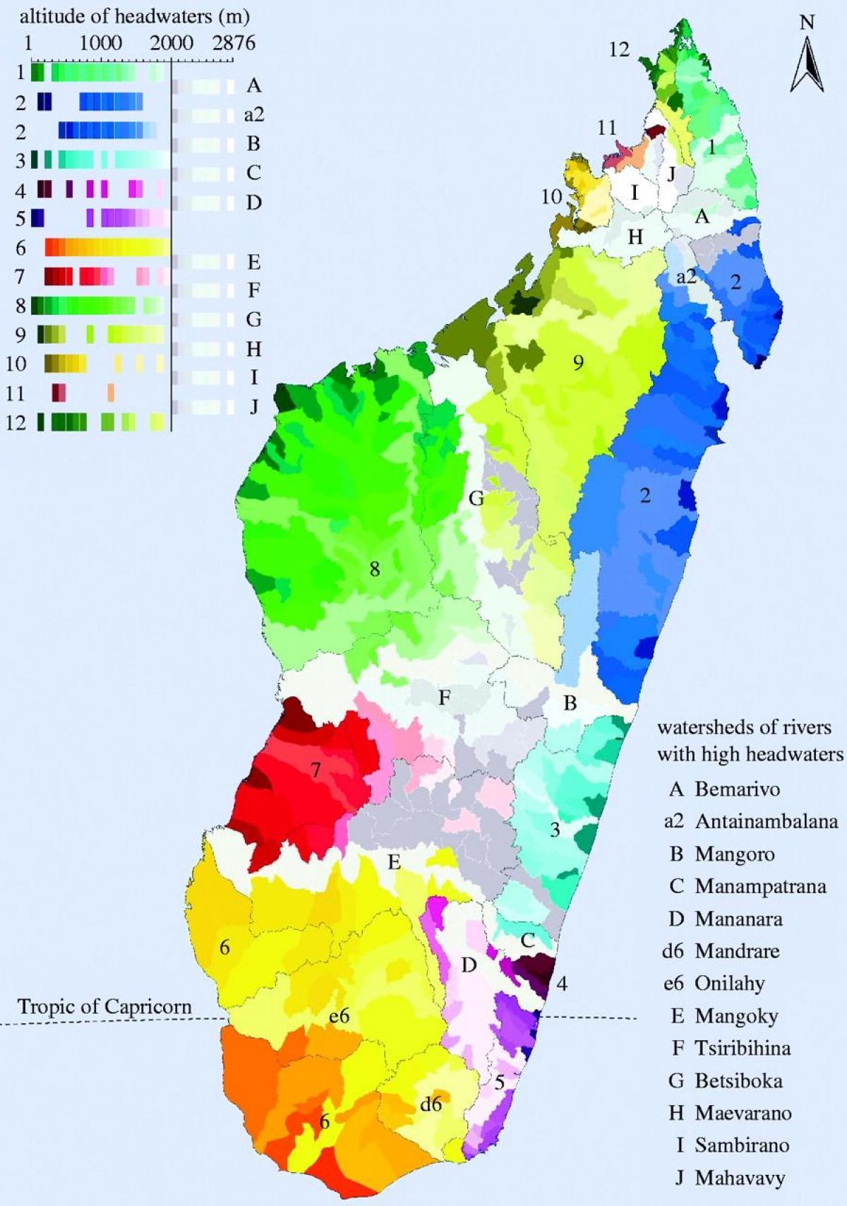 Carte Climat Madagascar.Madagascar Climat Carte Carte De Madagascar Climat