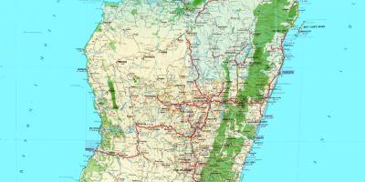 Carte Topographique De Madagascar.Madagascar Topographique Carte Carte De Madagascar
